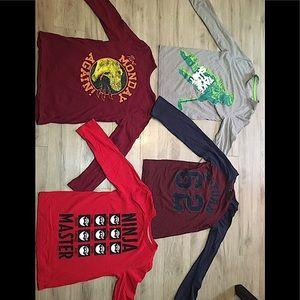 4 shirts or 6$ each boys long sleve shirts